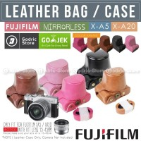 Fujifilm X-A3 X-A5 X-A10 X-A20 Leather Bag Case / Tas Kulit Kamera