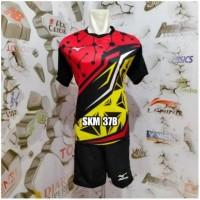 Big Sale Setelan Baju Kaos Celana Bola Voli Mizuno Printing Batik