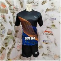 Paling Terlaku Setelan Baju Kaos Celana Bola Voli Badminton Mizuno