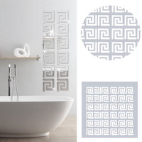 hiasan dinding cermin labirin sticker cermin labirin size besar