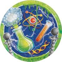 "Piring Kertas 9"" Tema Mad Scientist - Pesta Ulang Tahun"