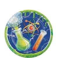 "Piring Kertas 7"" Tema Mad Scientist - Pesta Ulang Tahun"