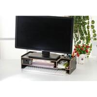 Rak Desktop Storage PC Komputer Meja Kayu Laptop Notebook Monitor