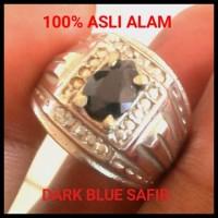 Batu Safir Natural Dark Blue Sapphire No GF Asli Alam Super Mulus
