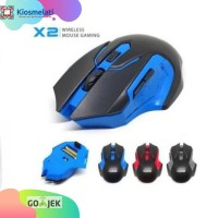 Mouse Gaming Wireless X2 Mouse Game Wireless X2 Murah