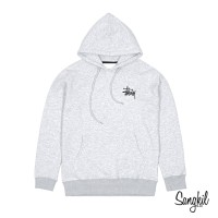 Stussy Basic Logo Pullover Hoodie Light Grey