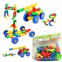 Mainan Edukasi Anak Funny Block Pipa Lego Puzzle Roda Pipa 019