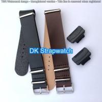 Baru StrapCasio Tali Jam Kulit Leather Adapter Black silver