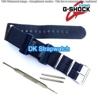 Model baru Strap Casio Tali Jam Canvas Adapter Black silver