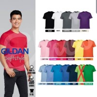 Kaos polos GILDAN SOFTSTYLE 63000 ORIGINAL slim fit S M L XL