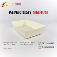 Paper Tray Polos Size M / Piring Kertas Medium @50 Pcs !!