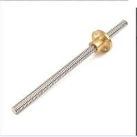 Lead screw T8-2 100mm/10cm +brass nut Linear Screw