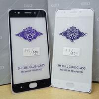 Tempered Glass Full Cover OPPO F1S ( Full Lem, Tidak Pelangi ) - Hitam