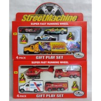Mobil Street Machine Fire Engine Truck Trailer Diecast Mainan Anak