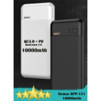 Remax RPP-151 QC3.0 + PD Dual Fast Charging 10000mAh Powerbank