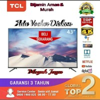 TCL LED TV 43 inch 43A8 UHD 4K Bluetooth ANDROID SMART TV