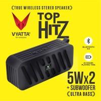 VYATTA Top Hitz TWS Speaker - Stereo, Bluetooth, USB/TF - ULTRA BASS - Briliant Black