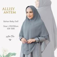 Original NIBRAS HIJAB ALLISY ANTEM L Khimar Polos Baby Doll