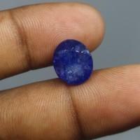 Batu Blue Safir Afrika Natural Blue Sapphire Asli Batu Blue Safir CT 6