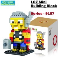 MAINAN KOLEKSI ANAK BRICKS LOZ MEDIUM 9157 THOR DIAMOND BLOCKS