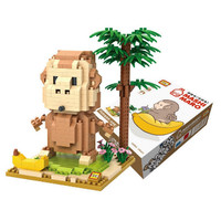 MAINAN KOLEKSI ANAK BRICKS LOZ BLOCKS 9850 MONKEY BANANA MASHIMARO