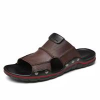 Sandal Pria Kulit Sapi Asli Import 2113