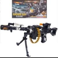 Mainan anak pistol senapan tembakan panjang machine gun