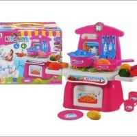 Mainan masak kitchen baterai suara lampu import LS820A8