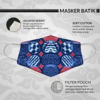 Masker Kain BATIK Kesehatan Breathable dan Comfortable Anti Bakteri