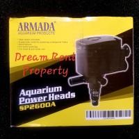 Mesin Pompa Celup Power Head Filter Aquarium Akuarium ARMADA SP2600A