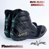 Sepatu Boot Motor RVR Rush V2 Touring Adventure Bikers Pria Hitam