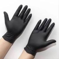 Sarung Tangan Karet Nitrile Latex / warna hitam