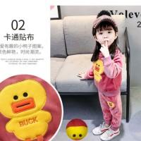 Baju Setelan Anak Perempuan Import DUCK.. bahan bagus sekali