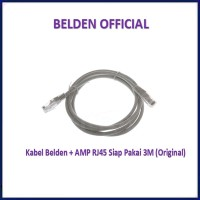 Belden CAT5e 3M UTP RJ45 ORIGINAL Cable Kabel LAN Siap Pakai Cat 5e