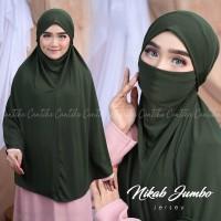 Yumna French Khimar Tanpa Lengan Jumbo Syari Hijab Jilbab Masker Cadar