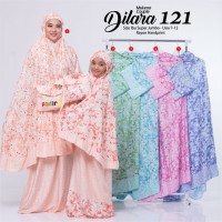 new mukena couple dilara 121 super jumbo rayon handprint adem nyaman