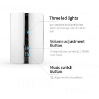 Receiver Wireless Door Bell Waterproof (hanya receiver)