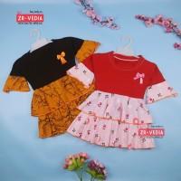 Dress Syifa uk Bayi 3-12 Bayi / Dres Murah Baju Pesta Baby Perempuan