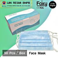 Masker 3 Ply 3Ply 50 pcs Surgical Mask Masker Bedah Earloop