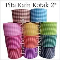 Pita Kain Motif Kotak 2 inch