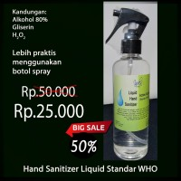 Hand Sanitizer Cair / Liquid Spray 80% 250ml Murah