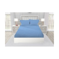 SPREI QUEEN CALIFORNIA POLOS EMBOSS FITTED 160X200 BLUE OASIS