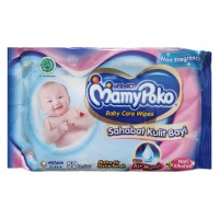 Tissue Basah Mamy Poko Baby Care Wipes NON FRAGRANCE isi 52 lbr