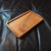 SALE !!! Recta Tray 13cm x 20cm RUSTIC grade nampan piring saji kayu