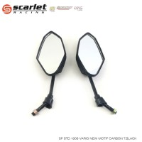 SCARLET RACING Spion vario carbon tangkai BLACK