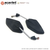 SCARLET RACING Spion Jupiter carbon tangkai CHROME