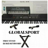 Keyboard piano JOY JK-60 ORIGINAL FREE STAND (KAKI KEYBOARD)