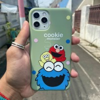 Soft Case Monster Cookie for Iphone - Biru