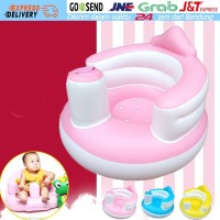 Kursi Sofa Angin Kursi Bayi tiup Makan Mandi Bayi Kursi Kids Seat PVC - Biru