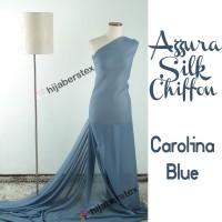 HijabersTex 1/2 Meter Kain AZZURA SILK CHIFON Carolina Blue